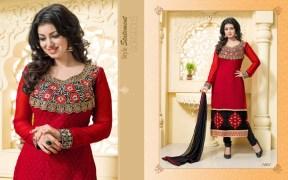 Blissta Georgette Embroidered Salwar Suit For Women - ktarzan01
