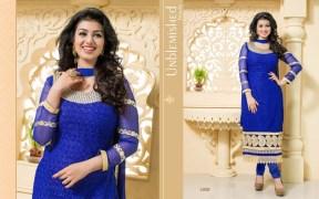 Blissta Georgette Embroidered Salwar Suit For Women - ktarzan02