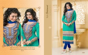 Blissta Georgette Embroidered Salwar Suit For Women - ktarzan03