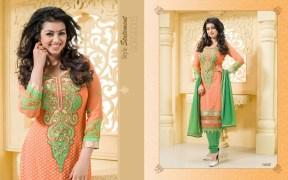 Blissta Georgette Embroidered Salwar Suit For Women - ktarzan05