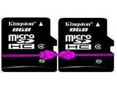 Kingston 8GB Micro Sdhc Memory Card- Class4 (Pack of 2)