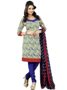 Straight Style Blue Crepe Silk Salwar Suit Material with Georgette Dupatta - LF155D571