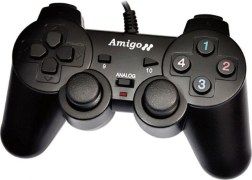 Amigo STK 2009 Gamepad USB Joypad Joystick Game Pad Double Shock Controller