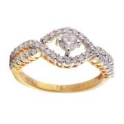 Saloni Jewels Gold 18kt Wedding & Engagement Ring LR-412
