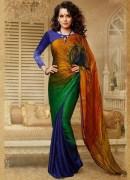 Kangana Ranaut Multicolour Faux Georgette Saree