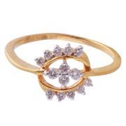 Saloni Jewels Gold 18kt For Wedding & Engagement Ladies Ring LR-408