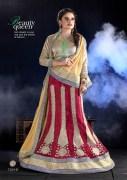 Dark Maroon & Cream Coloured Self Design Women's Lehenga Choli