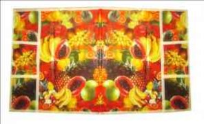 Goldcave Fruits Floral Design Fridge Cover - GDC95