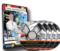 Professional AutoCAD Skills & Techniques 30 Courses Video Training on 4 DVDs