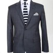 Gwalior Suiting Black Suit for Men