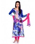 Charming Resham Embroidered Churidar Kameez For Women - CG-3702A